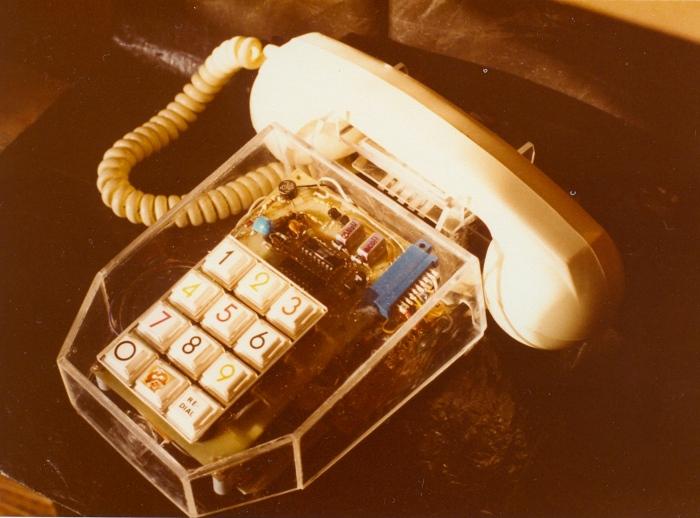 자작한 전자식버튼 전화기#2